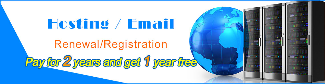 Hosting/Email Pay for 2years and get 1 year free