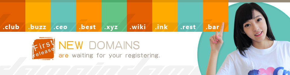 New domains are waiting for your registering.